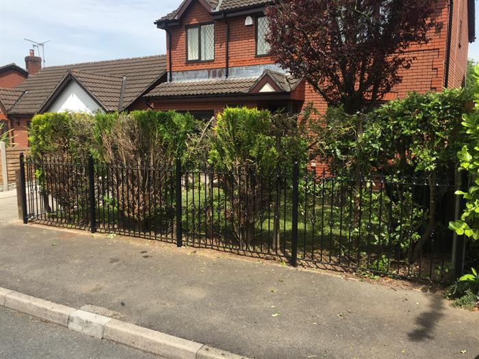 Aber wrought iron railings for Gwent garden designs ltd